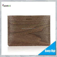 New Arrival Pouch For iPad Mini Tab Bag Case, Top Quality Real Wood Case Pouch for iPad Mini Wooden Bag