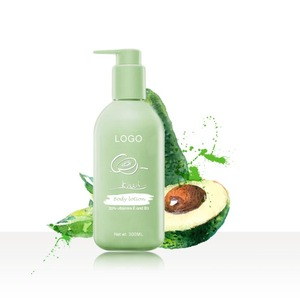Hot Sale Organic Shea Butter with Kiwi Fruit Vitamin C Hotel Skin Whitening and Lightening Body Lotion in 300ML PET Bottle