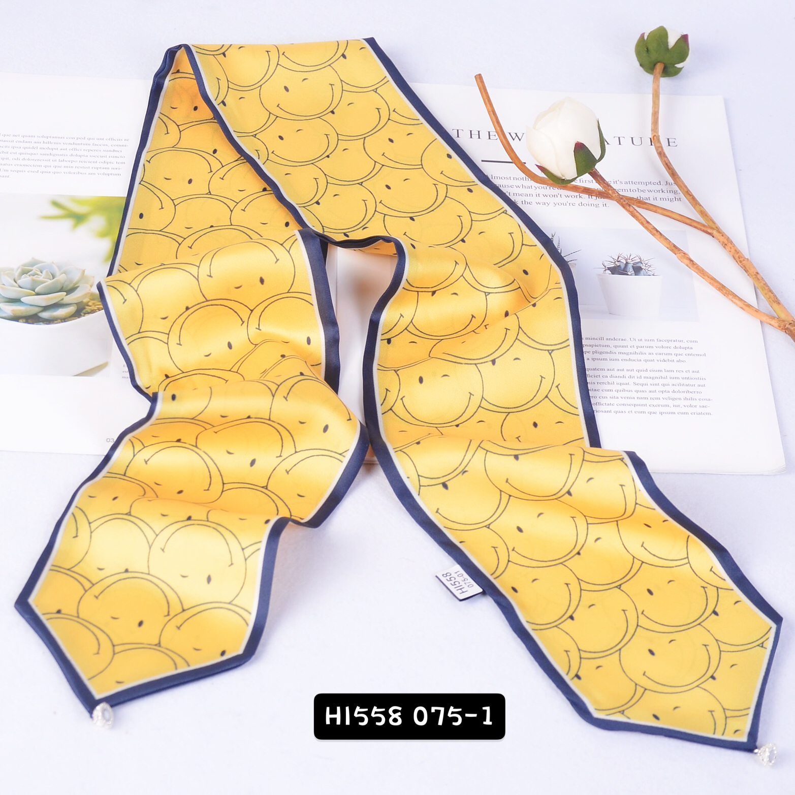 New Popular Custom Design Smile Printing  Neck Tie Scarf for Spring for Wholesale