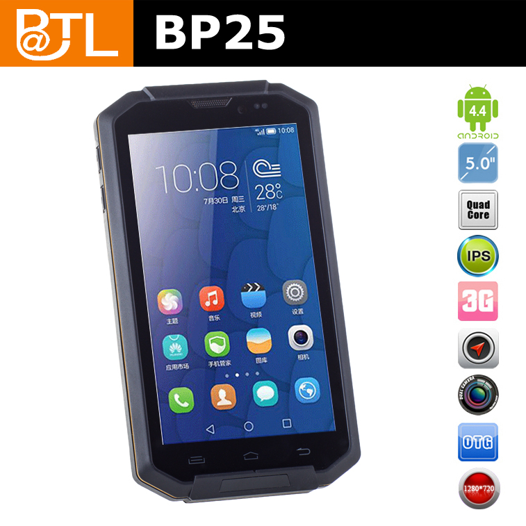 BATL BP25 5.0 inch High sensitive screen support gloves touch gsm rugged cell phone nfc rugged smart phone