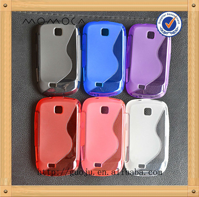 "tpu ""S"" type cell phone case for S5570 Galaxy mini samsung"