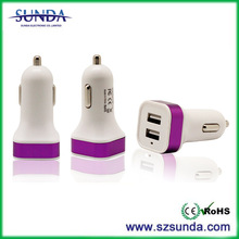 2014 New Products R-137 Colorful Alloy 3.1A Car Charger Dual USB Car Charger
