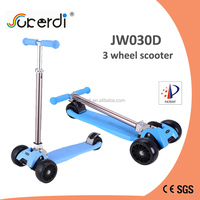 New year gift 3 big 120mm PU wheel foldable CE EN71 children pedal kick go scooter