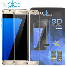 mobile phone accessories 3d full cover protective film for Samsung S7 edge tempered glass screen protector