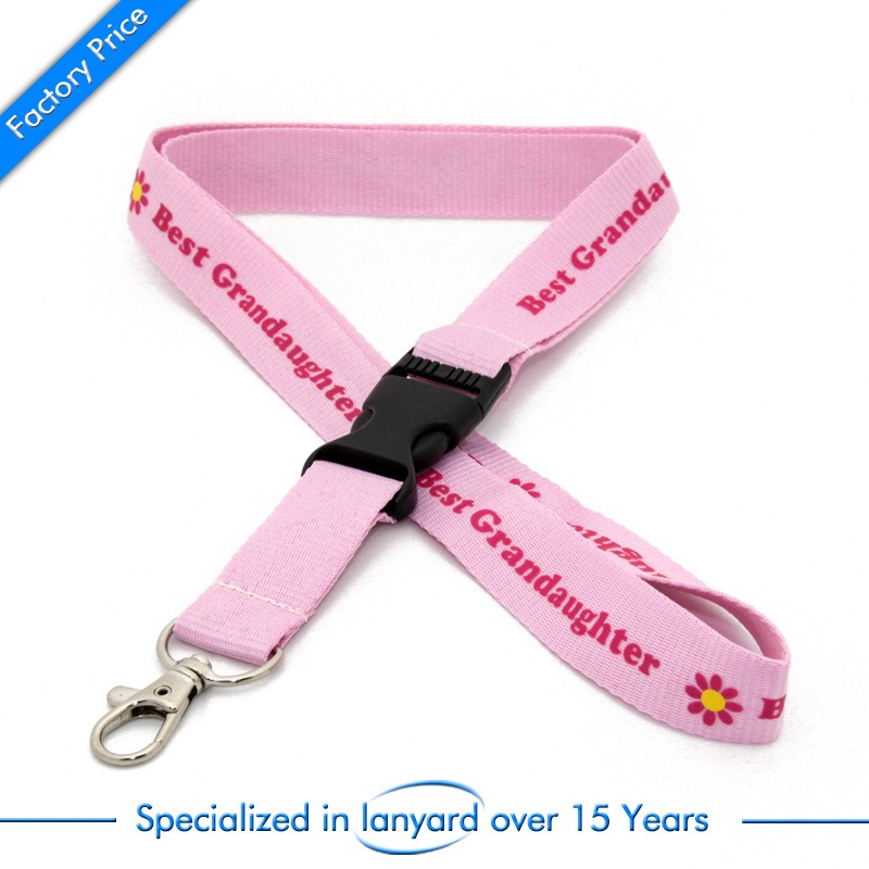 Supply high quality printed thick lanyard at factory price