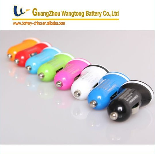 2 usb car charger /mini Dual USB car charger, eight colors offered