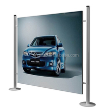 advertising backdrop stand for outdoor car display