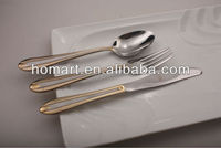 Hotel stainless steel Goldplated stainless delux dinnerware sets