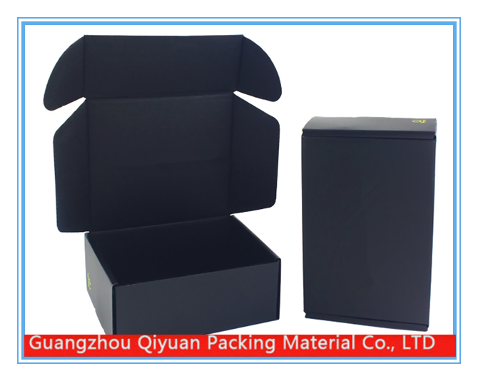 Wholesale new products black corrugated shipping boxes custom logo