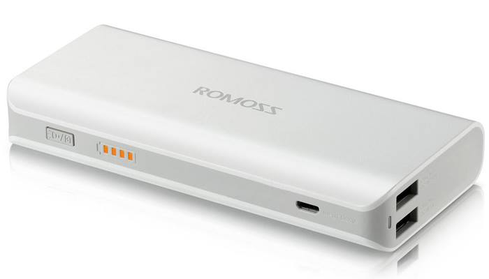 100% Original Romoss 10400mAh Dual Usb External Power Bank for iPhone 4 5s