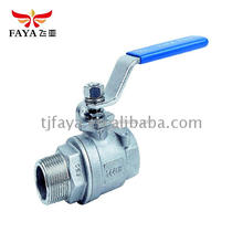 Made 2 pc Stainless Steel Ball Valve 2pc clamp ball valve