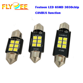 Bright power high lumen car interior led light 31 36 39 41MM 3030 6SMD canbus decoder error free