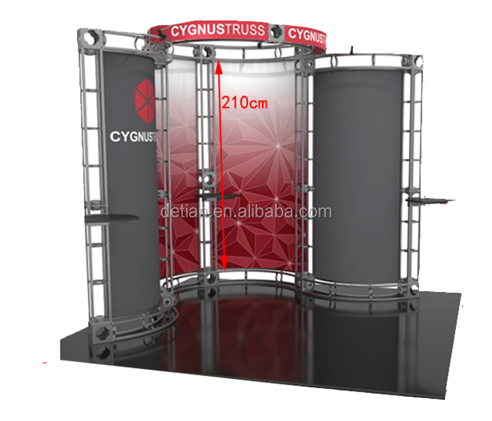 modular aluminum truss exhibition booth stand for exhibition service