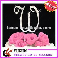 Bling Hot sale high quality W wedding cake toppers for party anniversary