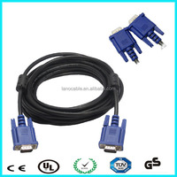 High speed vga cable 15m/m 3+4 + 2 ferrites for sale