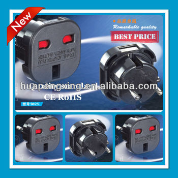 UK 3 pin to Europe 2 pin adaptor plug