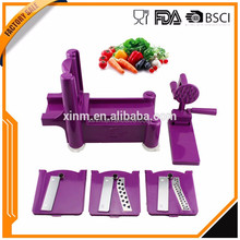 2016 Hot Selling Manual Plastic Spiral Slicer Spiralizer Fruit and Vegetable Slicer