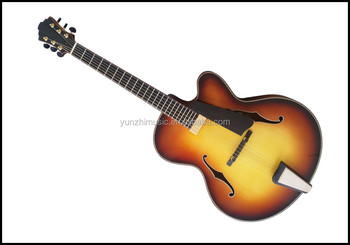 17 inch yunzhi fully handmade with solid wood archtop electric guitar for sale