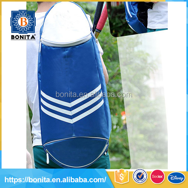 Breathable and waterproof blue 600D shoes and badminton custom made backpacks