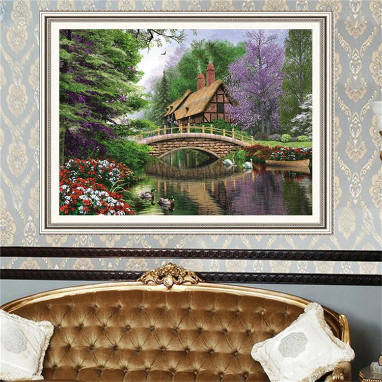 Casa Diamante Pintura 3d Cenário Foto 5d Parede Imagem Para