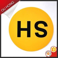Free Design Round Shape Cheap Custom HS Code for Labels