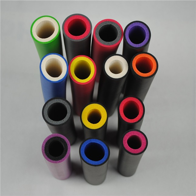 nbr black soft foam rubber tube shrink tube sleeves for pipes fishing rod manufactory