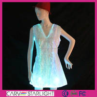 Led light up sexi beautiful night club ladies dress