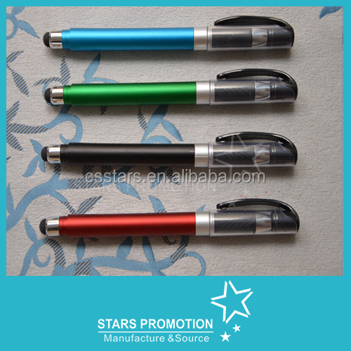 Factory Small MOQ Popular Novelty Plastic Pen With Stylus, Plastic Tip Stylus