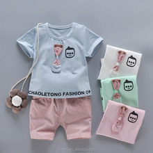 fashion hot sale OEM service casual style short sleeve shirt 2 piece baby boy outfit clothes set wholesale bangladesh clothing