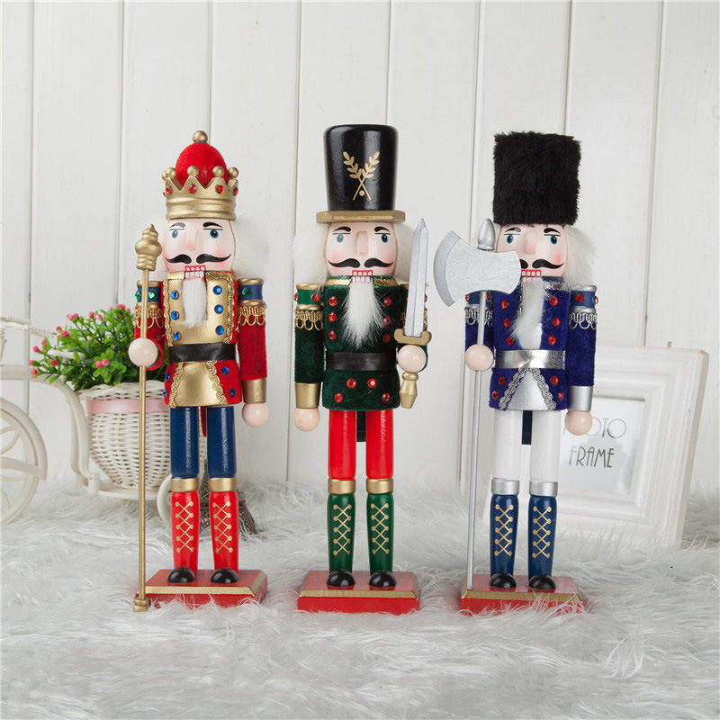 FQ brand giant outdoor christmas nutcracker decoration boutique outdoor giant wooden nutcracker ornaments