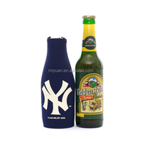 Wholesale neoprene crochet wine beer water bottle cover cooler bag with zipper