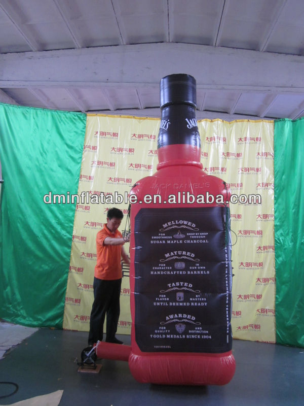HOT !!! 2013 new style inflatable bottle advertisement