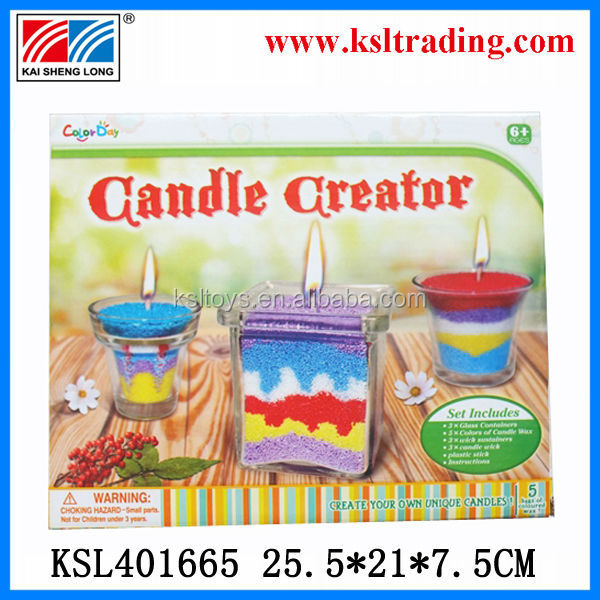 colorful funny candle creator sand art wholesale