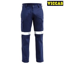 Men's Cotton Reflective Safety Pants Work Trousers