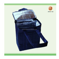 high quality customized easy carry non woven cool bag from china