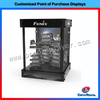 Modern design wholesale glass display case with best quality