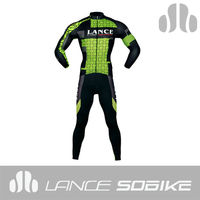cycling long set pro team bicycle cycling set cycling wear green color