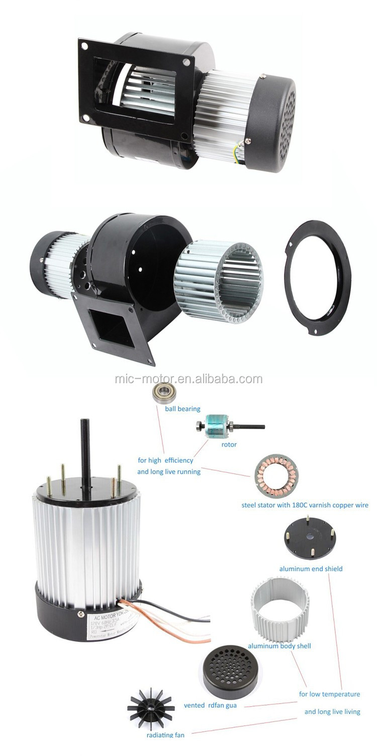Hot selling 1/3hp 3300rpm 115V single phase electric fan motor