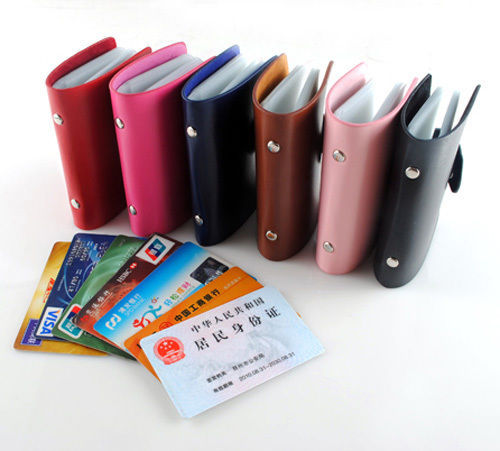 Women Men Fashion Business ID Credit Card Holder Pocket Handbag Purse Case