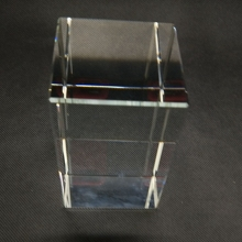 many sizes K9 crystal glass 3d laser blank crystal block clear crystal cube for laser engraved
