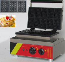 professional 10pieces rectangle waffle stick maker/ waffle oven for sale/waffle making machine