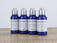 High quality hotel toiletry set, shampoo, shower gel, conditioner, body lotion wholesale