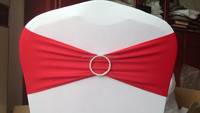 spandex chair band sash with rhinestone buckle chair cover decoration