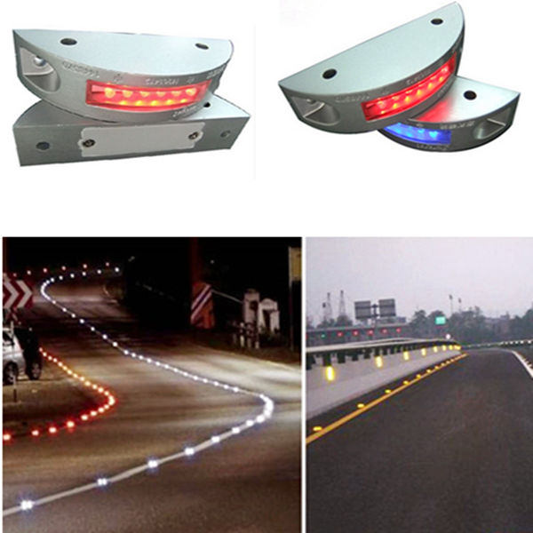 For Safety Roadway Night Indicate Lighting Solar LED Road Reflectors Cat Eyes