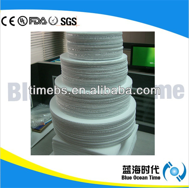 Food grade die cut pp corrugated/flute/coroplast plastic cake board for wholesale