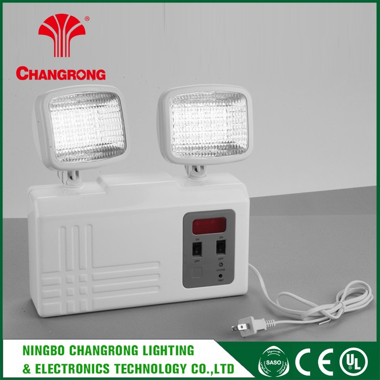 Two Head Emergency Light Lamp , Best Quality Rechargeable Led Emergency Light