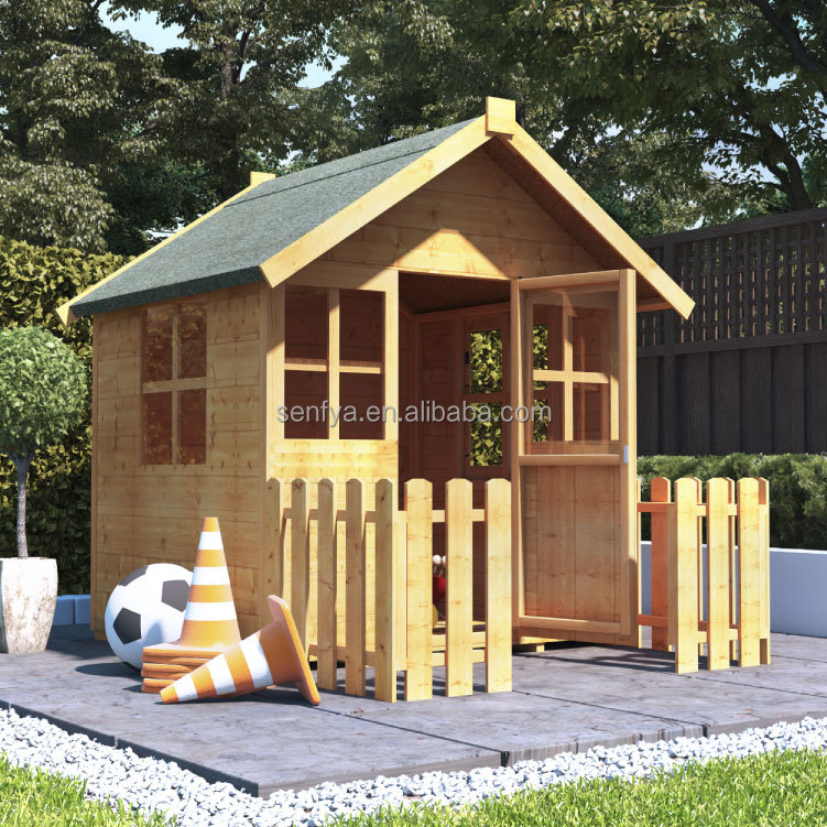 small timber framing house for outdoor prefab kid playgroud house