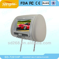 7 inch cheap Car Headrest DVD player with usb