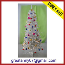 2015 ball decorated snow Christmas tree for sale