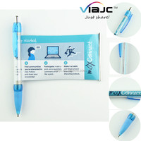 Hot selling pull out banner pen for promotion advertising